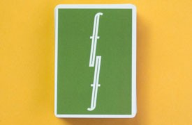 Green Fontaine Playing Cards