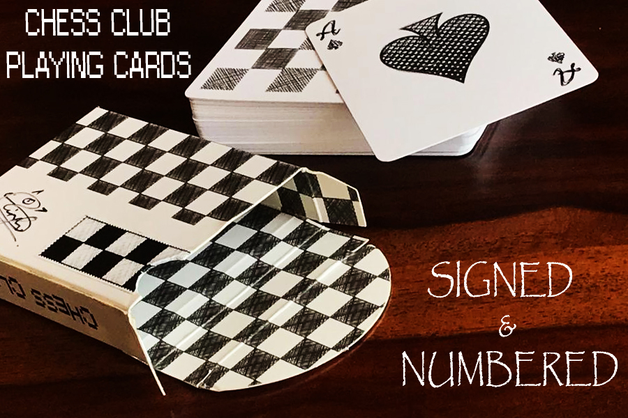 CHESS CLUB PLAYING CARDS - Signed & Numbered Seal